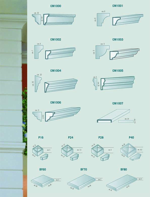 Decorazioni e rivestimenti per edilizia for Rosoni in polistirolo