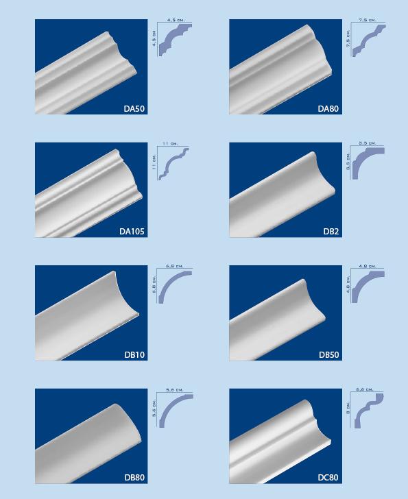 Cornici per interni in polistirolo pannelli termoisolanti for Polistirolo prezzi