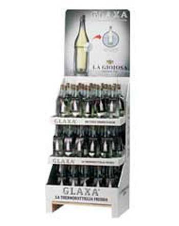Espositore cartone multipianio per bottiglie