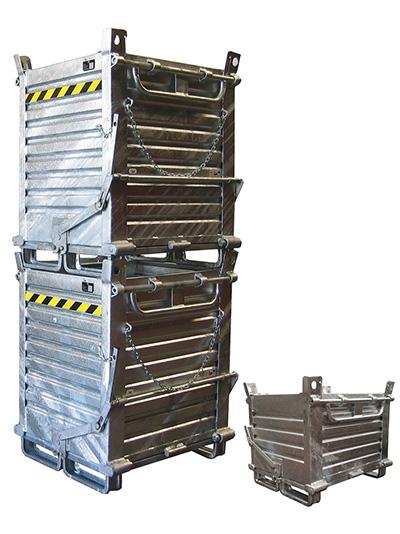 Contenitori in ferro per movimentazione e stoccaggio